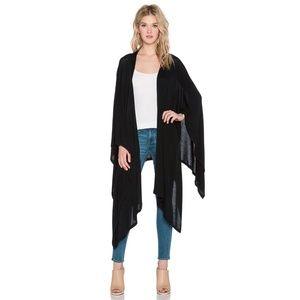 LNA Clothing Poncho Wrap in Black